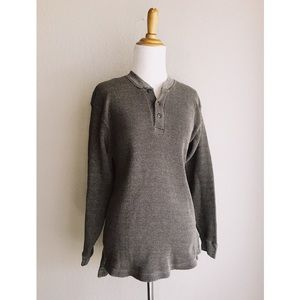Olive Longline Thermal Camping Henley